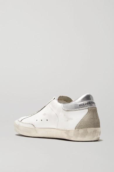 Golden Goose Deluxe Brand Metallic-Leder | Superstar Sneakers aus Metallic-Leder Brand und Veloursleder in Distressed-Optik b6a2ec