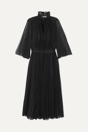 Prada Plissé-georgette midi dress