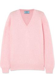 Prada Oversized mohair-blend sweater