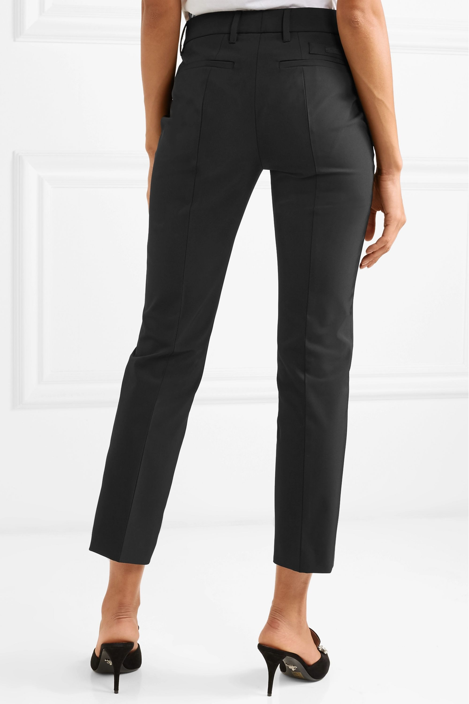 Prada Cropped crepe straight-leg pants