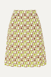 Prada Printed cotton skirt