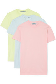 Set of three cotton-jersey T-shirts