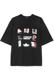 Prada Printed cotton-jersey T-shirt