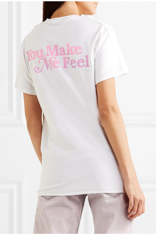 BLOUSE Natural Woman printed cotton-jersey T-shirt