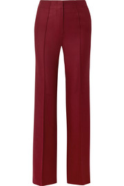 Claudette wool-blend twill flared pants