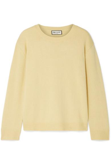 PAUL & JOE Cashmere Sweater in Yellow