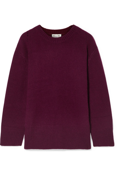 PAUL & JOE Cashmere Sweater in Plum