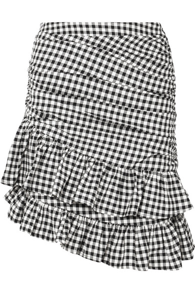 MAGGIE MARILYN See You At Coco's ruffled gingham cotton mini skirt