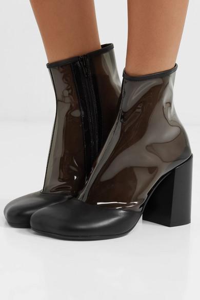 MM6 Maison Margiela | mit Ankle Boots aus PVC mit | Lederbesatz 0beb6f