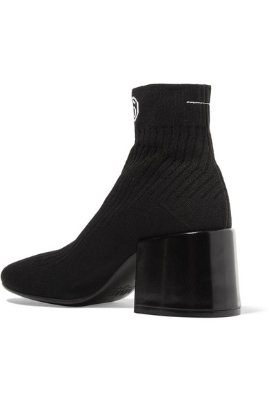 Cheap 100% Authentic MM6 MAISON MARGIELA Logo-jacquard Ribbed Stretch-knit Sock Boots Nicekicks Online r2eKAPH