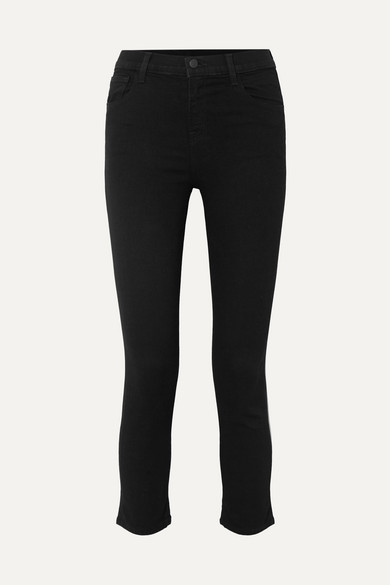 Ruby Cropped High Rise Slim Leg Jeans by J Brand