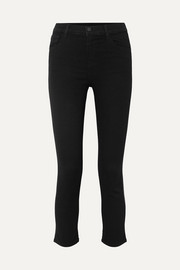 Ruby cropped high-rise slim-leg jeans