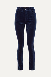 Maria cotton-blend velvet skinny pants