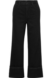 Joan cropped high-rise wide-leg jeans