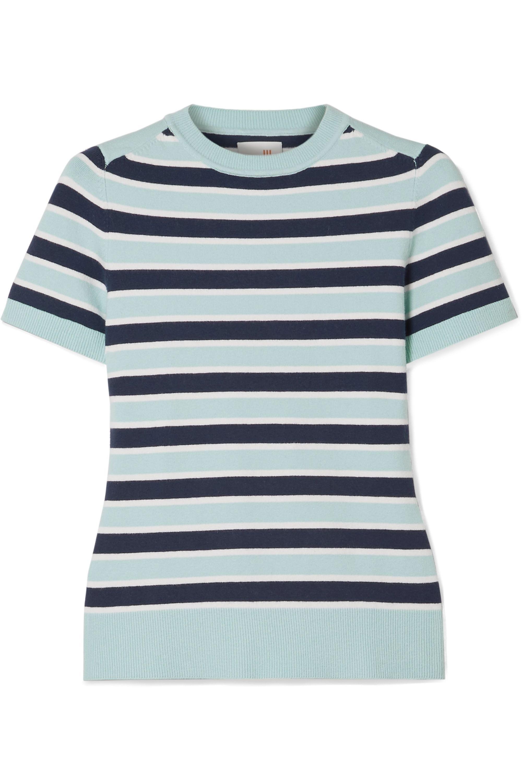 JoosTricot Striped stretch cotton-blend sweater