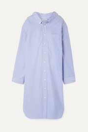 Balenciaga Oversized striped cotton-poplin dress