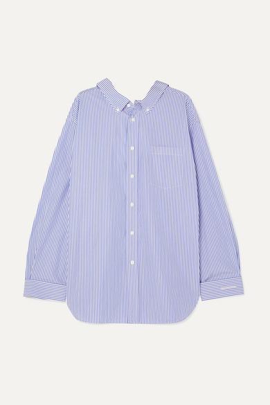 7c803a13a550 Balenciaga   Swing printed striped cotton-poplin shirt   NET-A ...