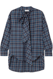 Balenciaga New Swing checked cotton-flannel shirt