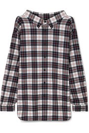 Balenciaga Swing oversized checked cotton-flannel shirt