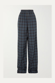 Balenciaga Checked cotton-flannel pants