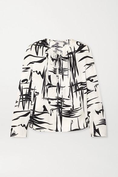 33234ca68562e Balenciaga. Printed silk-jacquard blouse