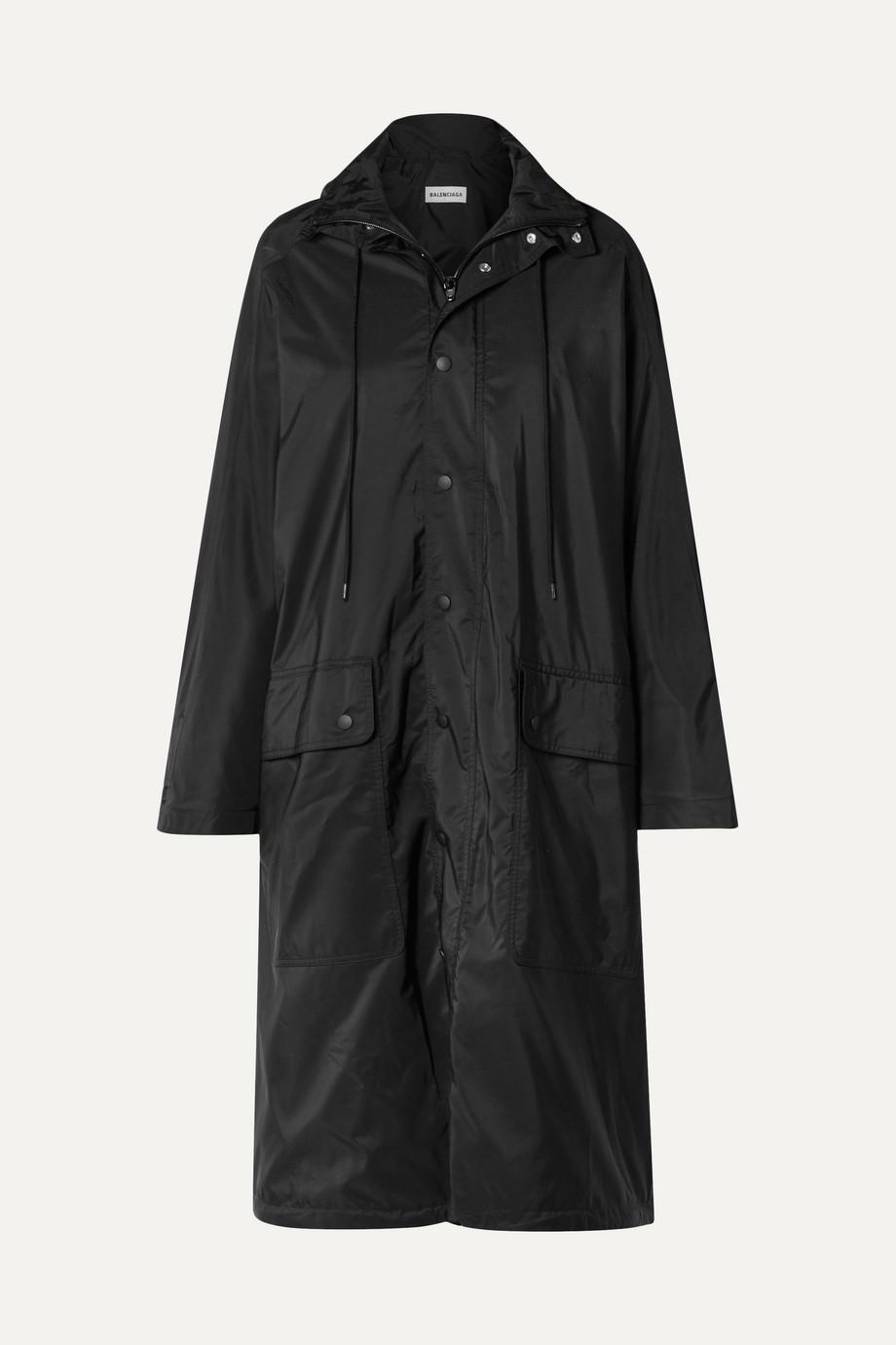 Balenciaga Opera oversized printed reflective shell raincoat