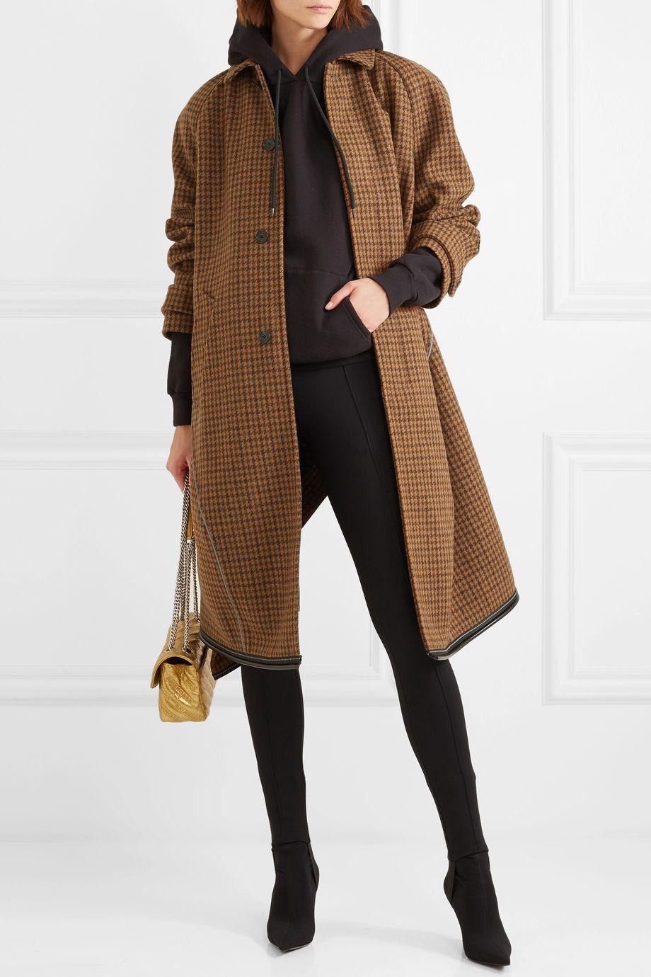 Balenciaga Manteau en laine mélangée pied-de-poule
