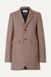 Balenciaga Checked wool-blend blazer