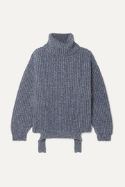 Balenciaga Ribbed mélange wool turtleneck sweater