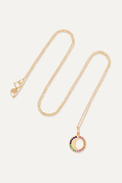 Andrea Fohrman Waning Gibbous Moon 18-karat Gold Diamond Necklace cXS5JYFCa