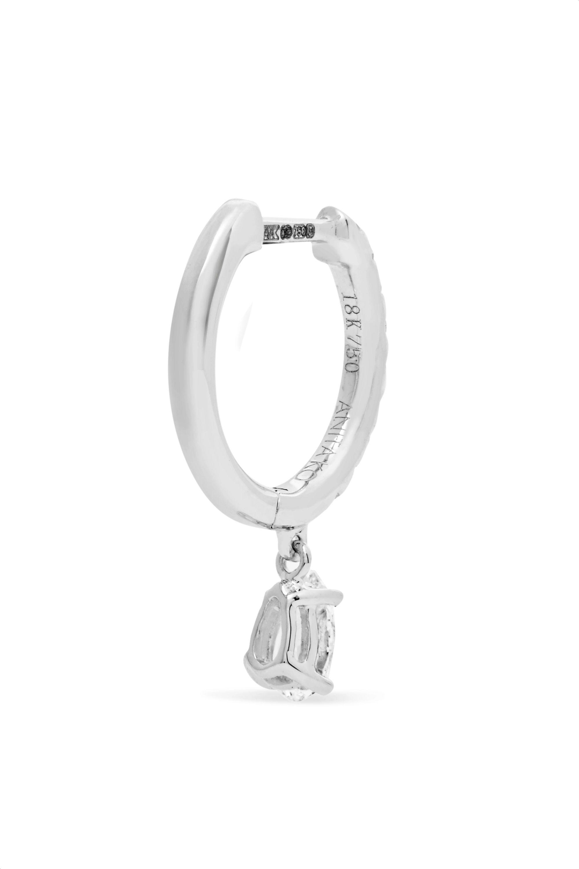 Anita Ko Huggies 18-karat white gold diamond earring