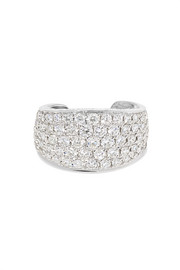 Bijou d'oreille en or blanc 18 carats et diamants Galaxy