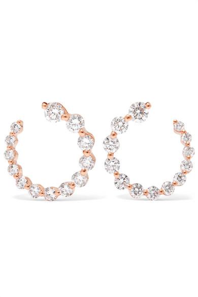Emma 18-karat Rose Gold Diamond Earrings - one size Anita Ko HX0PADiPIG