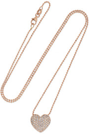 Collier en or rose 18 carats et diamants