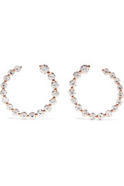 Garland 18-karat rose gold diamond hoop earrings