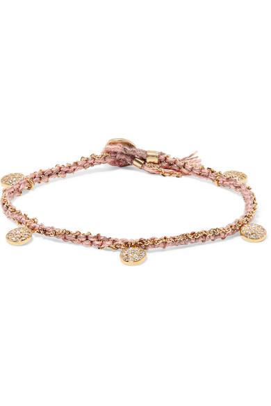BROOKE GREGSON Coin 14-karat rose gold diamond bracelet