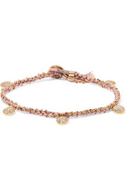 Coin 14-karat Rose Gold, Sterling Silver And Diamond Bracelet - one size Brooke Gregson