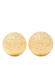 Extra Small Florentine 18-karat gold earrings