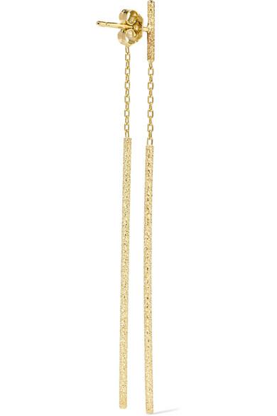 Double Magic Wand 18-karat Gold Earrings - one size Carolina Bucci ziqfC