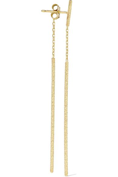 Carolina Bucci Double Magic Wand 18-karat Gold Earrings GWM3G5