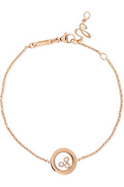 Happy Diamonds 18-karat rose gold diamond bracelet