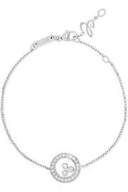Happy Diamonds 18-karat white gold diamond bracelet