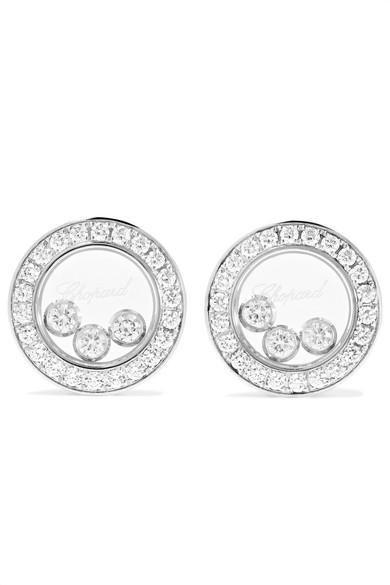 Chopard Happy Diamonds 18-karat Rose Gold Diamond Earrings ktDseQ