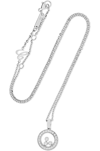 Happy Dreams 18-karat White Gold, Diamond And Mother-of-pearl Necklace - one size Chopard