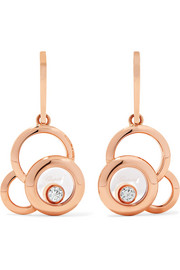 Happy Dreams 18-karat rose gold diamond earrings