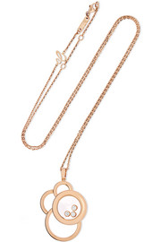 Happy Dreams 18-karat rose gold diamond necklace