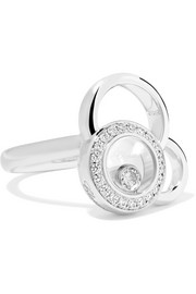 Happy Dreams 18-karat white gold diamond ring