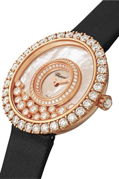 Chopard Montre En Or Rose 18 Carats Diamants Et Nacre A Bracelet