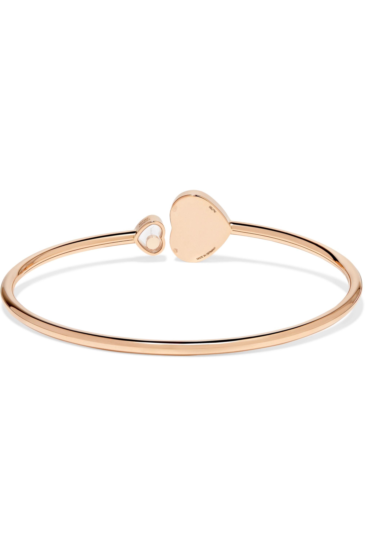 Chopard Happy Hearts 18-karat rose gold diamond cuff