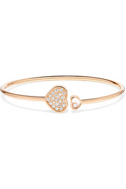 Happy Hearts 18-karat rose gold diamond cuff